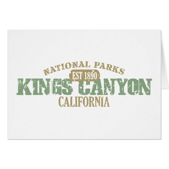 Kings Canyon National Park Card