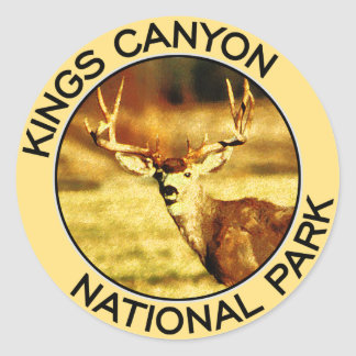 Kings Canyon National Park Classic Round Sticker