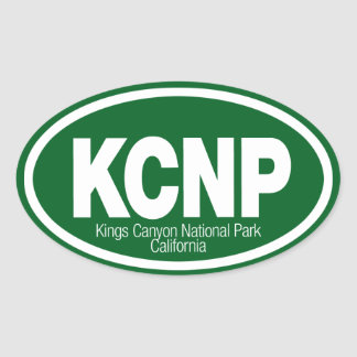 Kings Canyon National Park Oval Stickers