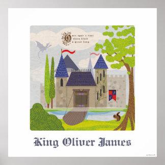 King's Castle Child's Name Custom Kid's Art Print