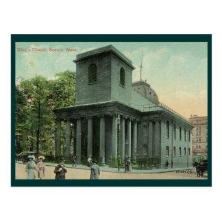 King's Chapel, Boston Vintage Postcard