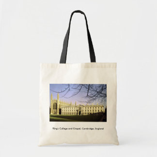 King's College and Chapel, Cambridge, England Canvas Bags