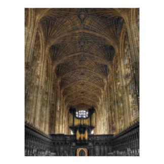 "King's College Chapel ~ Cambridge, England 8.5"" X 11"" Flyer"