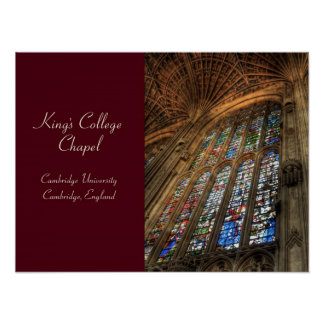 King's College Chapel ~ Cambridge, England Poster