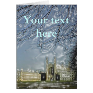 King's College Chapel Card