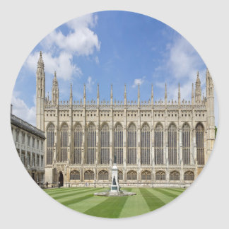 Kings College Chapel Classic Round Sticker