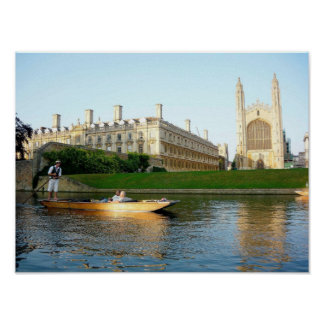 King's College Chapel on the river Cam Posters