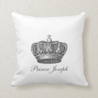 King's Crown Your Text Throw Pillow