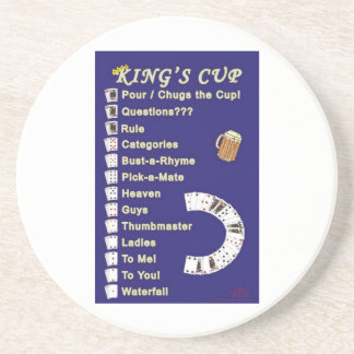 King's cup coaster drinking game