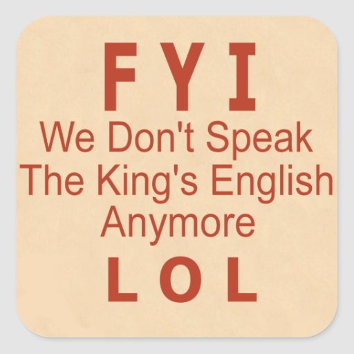 King's English Square Sticker