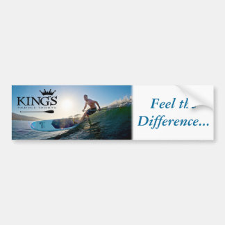 """King's """"Feel the Difference"""" Bumper Sticker"""