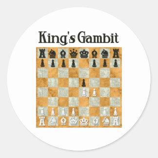 King's Gambit Classic Round Sticker