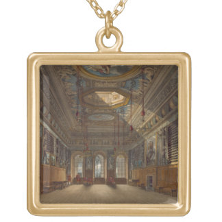 King's Guard Chamber, Windsor Castle, from 'Royal Gold Plated Necklace