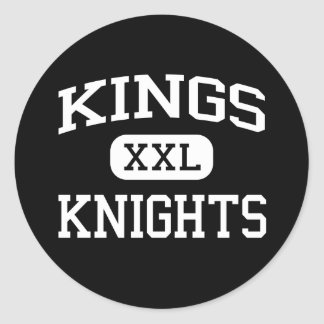 Kings - Knights - High School - Kings  Classic Round Sticker