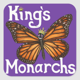 Kings Monarchs Square Sticker