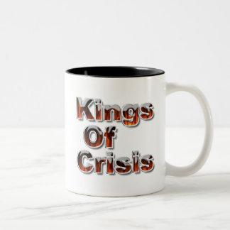 Kings of Crisis fiery lettering Two-Tone Mug