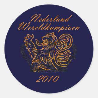 Kings of Football Oranje Nederland Wereldkampioen Sticker