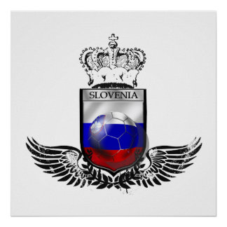 Kings of Soccer Slovenia emblem futbal crest Print