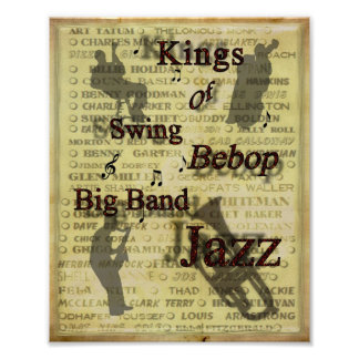 Kings of Swing Bebop Big Band Jazz Poster Print