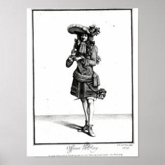 King's officer, 1675 poster