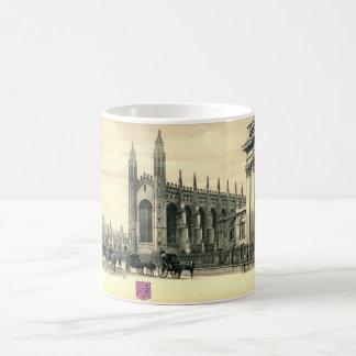 King's Parade, Cambridge England 1915 Vintage Classic White Coffee Mug