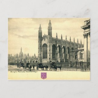 King's Parade, Cambridge England 1915 Vintage postcard