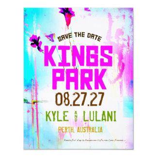 KINGS PARK Save the Date Destination Card