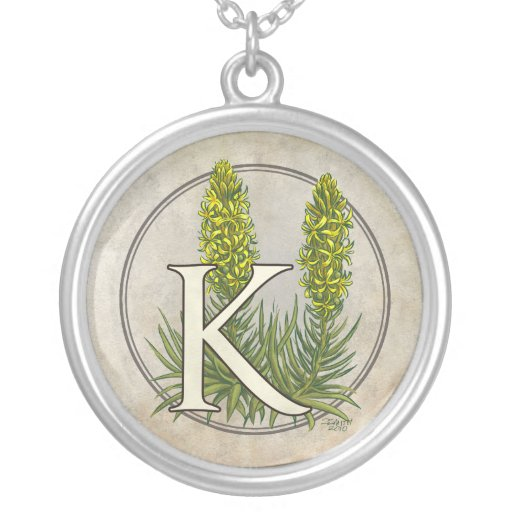 King's Spear Flower Monogram Jewelry