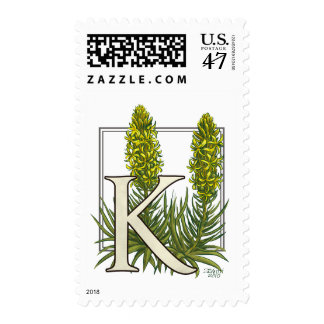 King's Spear Flower Monogram Postage