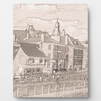 Kings Staithe York river Ouse Display Plaque