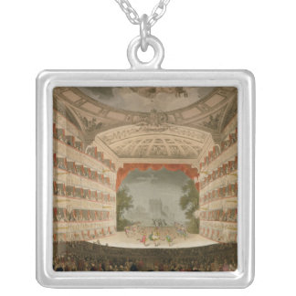 Kings Theatre Opera House Square Pendant Necklace