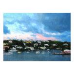 King's Wharf Bermuda Harbor Sunrise Announcement