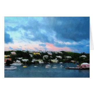 King's Wharf Bermuda Harbor Sunrise Card