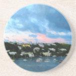 King's Wharf Bermuda Harbor Sunrise Coasters