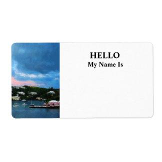 King's Wharf Bermuda Harbor Sunrise Label