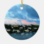 King's Wharf Bermuda Harbor Sunrise Ornaments