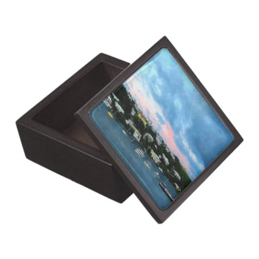 King's Wharf Bermuda Harbor Sunrise Premium Trinket Box