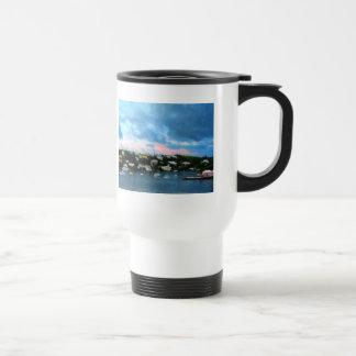 King's Wharf Bermuda Harbor Sunrise Travel Mug