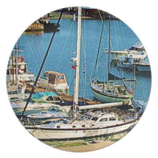 King's Wharf Bermuda Melamine Plate