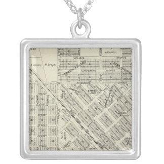Kingsburg, California Square Pendant Necklace