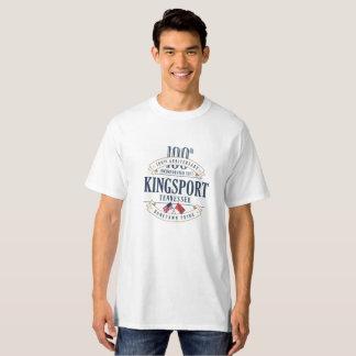 Kingsport, Tennessee 100th Anniv. White T-Shirt