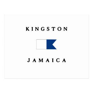 Kingston Jamaica Alpha Dive Flag Postcard