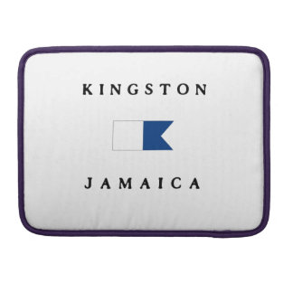 Kingston Jamaica Alpha Dive Flag Sleeve For MacBooks