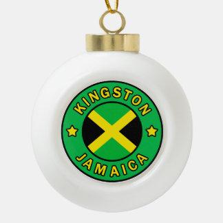 Kingston Jamaica Ceramic Ball Christmas Ornament