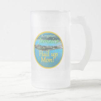 KINGSTON Jamaica Frosted Glass Beer Mug