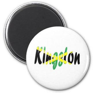 Kingston, Jamaica Imán Redondo 5 Cm