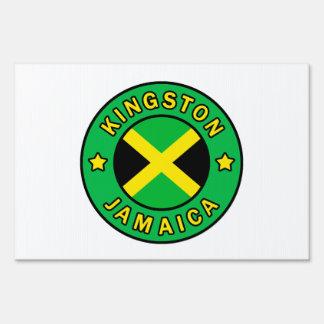 Kingston Jamaica Lawn Sign