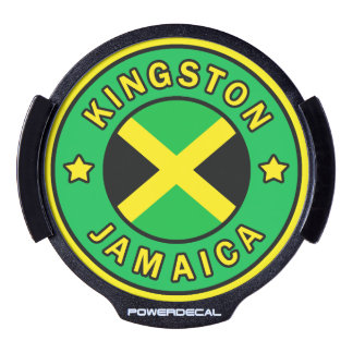 Kingston Jamaica LED Window Decal