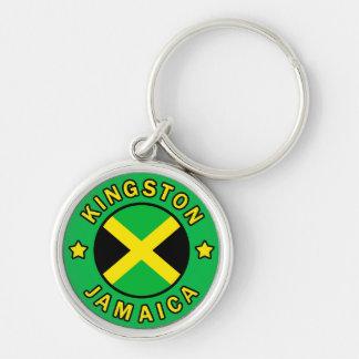 Kingston Jamaica Llavero Redondo Plateado