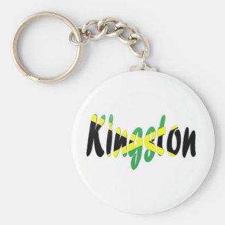 Kingston, Jamaica Llavero Redondo Tipo Pin
